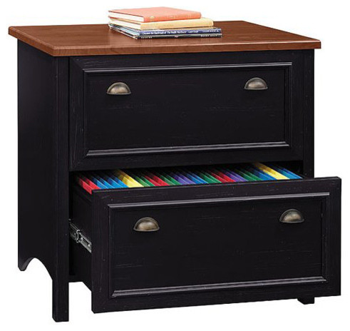 Bush Business Furniture Lateral File, Antique Black ...