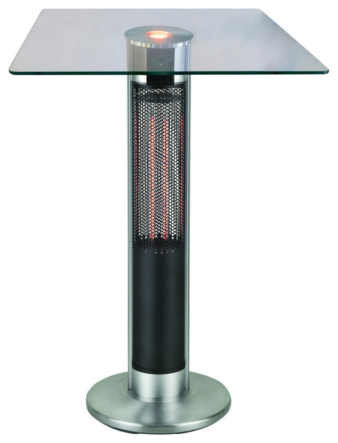 table heater. energ+ infrared electric outdoor heater, bar table contemporary-outdoor-pub-and- heater e