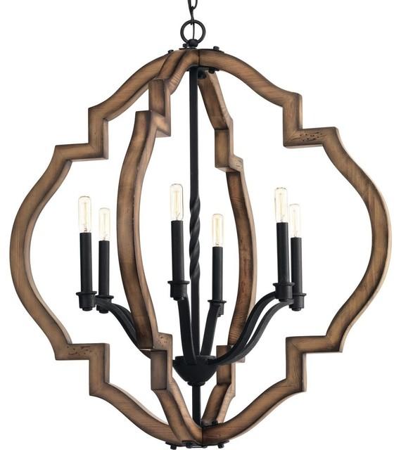 Progress Lighting Spicewood 6-Light, Chandelier, Gilded Iron