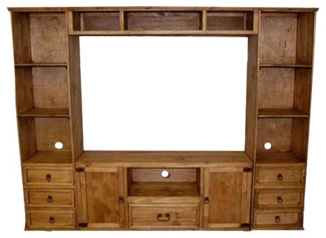 Rustic Small Flat Screen Wall Unit