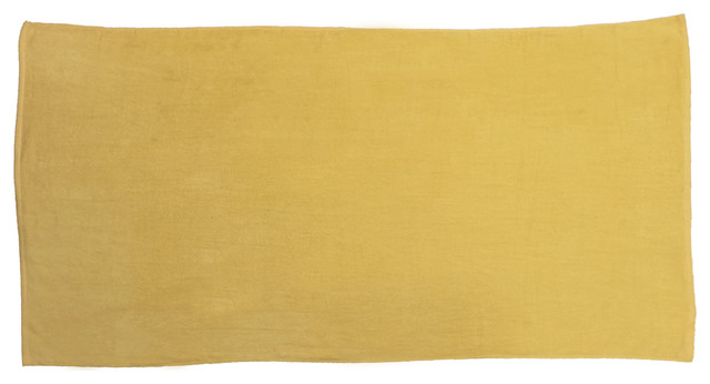 Sunshine Yellow 32x64 Terry Velour Beach Towels.