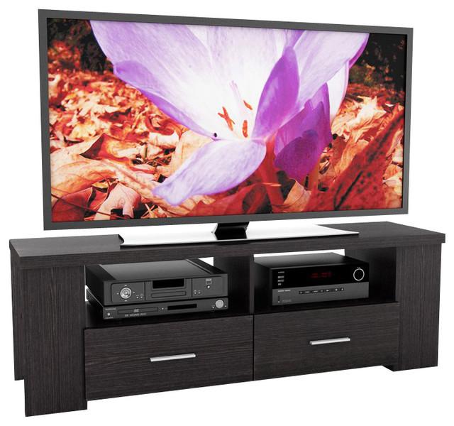 Sonax Bromley 60 Quot Tv Component Bench In Ravenwood Black