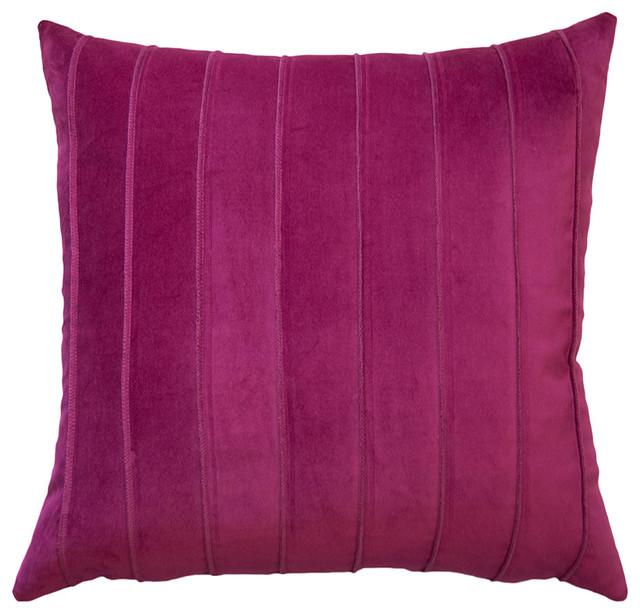 Paris Fuchsia Velvet Band 20x20 Pillow