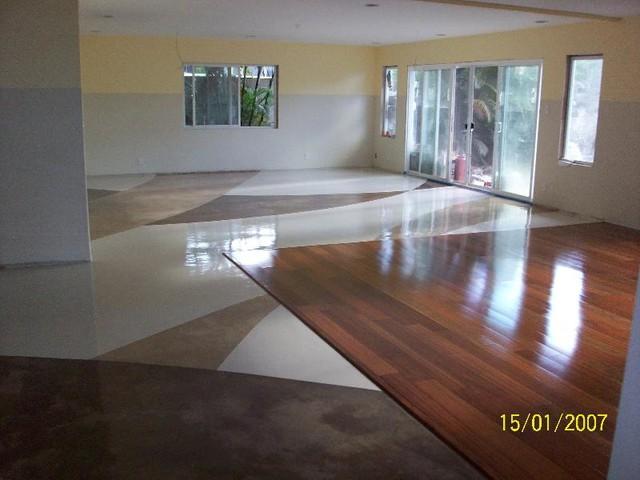 Nice Colored Epoxy Flooring   Interior