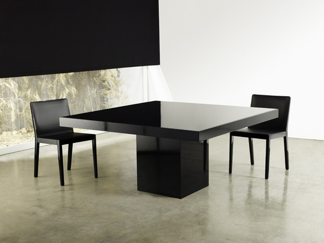 Beech square dining table modern dining tables los for Square dining table for 8