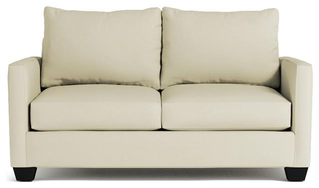 Tuxedo Apartment Size Sleeper Sofa, Stone - Transitional - Sleeper ...