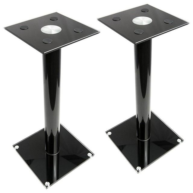 Universal Steel Floor Speaker Stands for Surround Sound /& Book Shelf Speakers