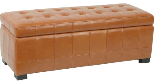Large Manhattan Storage Bench, Saddle