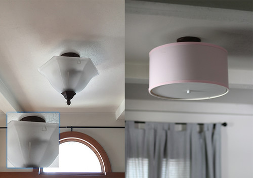 Updating flush mounts into ceiling drum lights mozeypictures Choice Image