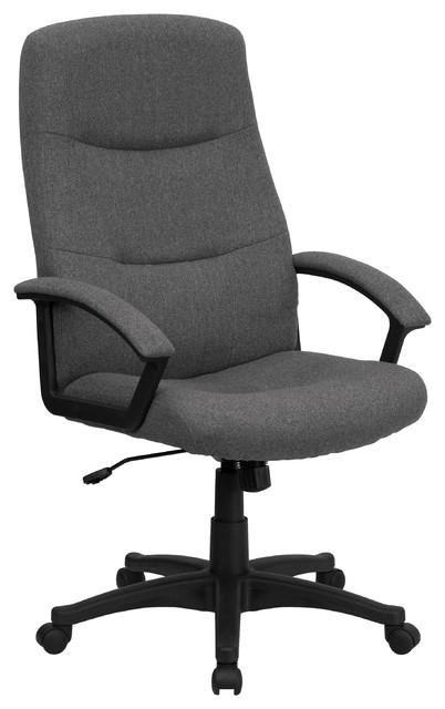 MFO High Back Gray Fabric Executive Swivel Office Chair