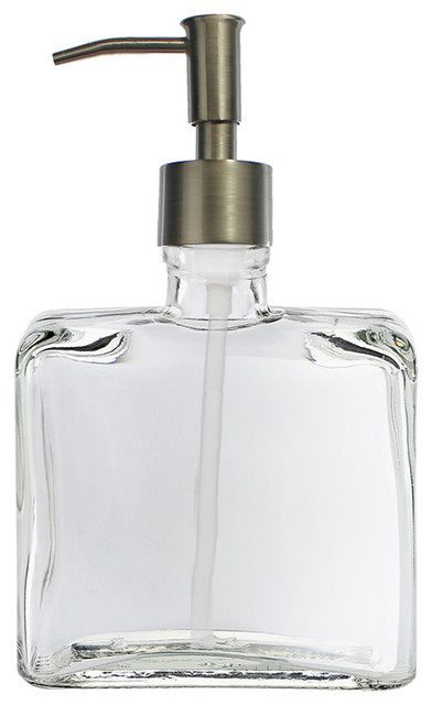 The flask soap dispenser with narrow pump contemporary soap lotion dispensers by - Brushed nickel soap dispenser pump ...
