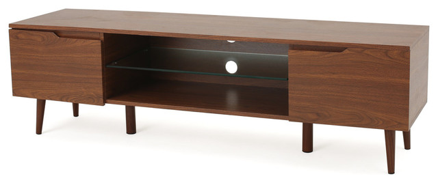 Reginald Mid Century Design Tv Stand, Walnut.