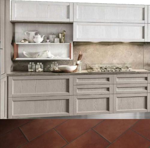 Colore per cucina con pavimento in gres stile cotto - Pavimento per cucina ...