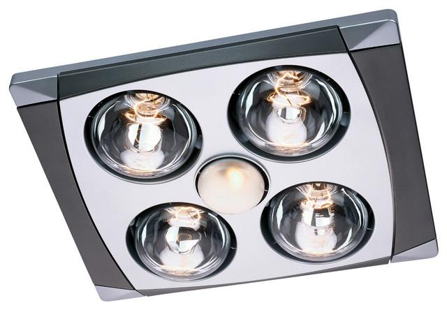 Aero Pure Fan A716AMC 4 Bulb Quiet Bathroom Heater Fan