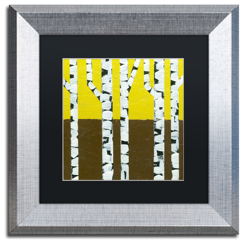Michelle Calkins Seasonal Birches Fall Matted Framed Art Traditional Prints And Posters By Trademark Global