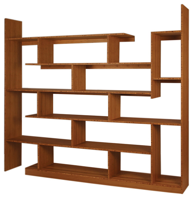 ... Robyn Walnut Contemporary Shelving Unit ...
