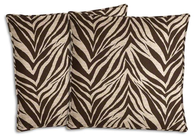 Fantastic Brown And Beige Zebra Outdoor Pillow Set Uwap Interior Chair Design Uwaporg