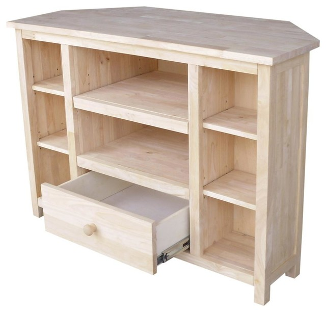 39 in. Corner TV Stand - Beach Style - Entertainment ...