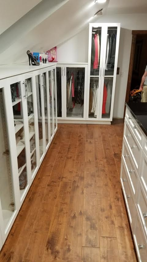 Closet with Display Cabinets