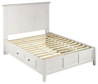 Paragon Four Drawer Storage Bed, White, King