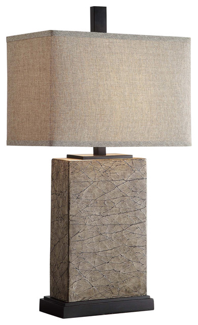 Mason Table Lamp, Resin Crackled Gold Finish.