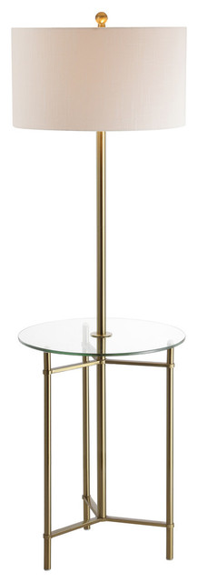Laine 60 Metal LED Side Table and Floor Lamp, Oil Rubbed Bronze by JONATHAN  Y