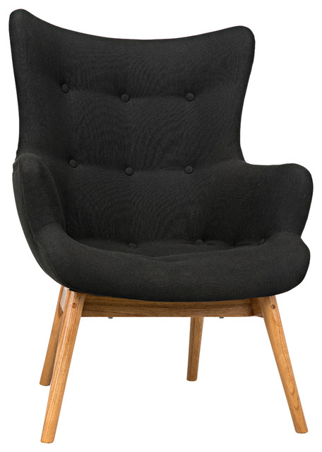 Noir Lotus Chair With Natural Finish AE-55N