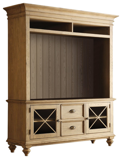 Riverside Furniture Coventry 58 Quot Tv Console With Hutch Farmhouse Entertainment Centers And