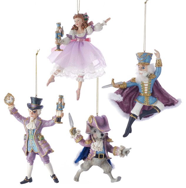 "Kurt Adler 6"" Nutcracker Suite Ornaments, 4-Piece Set"