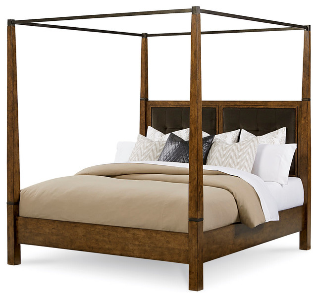 A.R.T. Furniture Echo Park Poster Bed With Canopy, Queen Rustic Canopy Beds