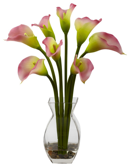Nearly Natural Home Indoor Decorative Tabletop Classic Calla Lily