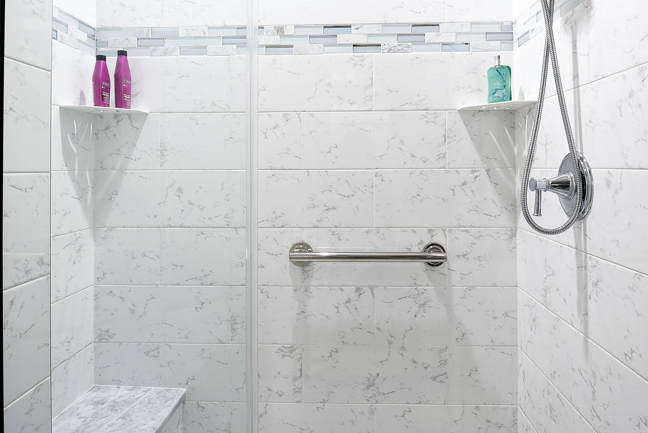 Condo Bathroom Remodel With Custom Tile Shower Pan