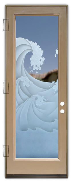 Glass Front Entry Door Sans Soucie Art Glass High Seas 3d.
