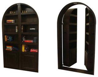 Hidden Passageway Custom Bookcase Door eclectic interior doors