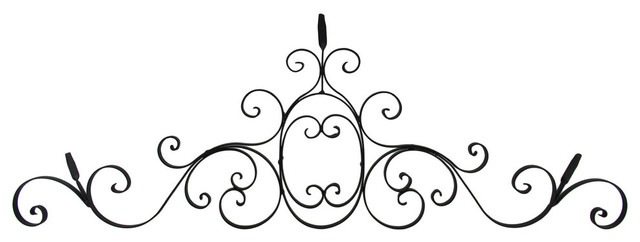 Decorative Scrolling Metal Pediment Wall Sculpture - Traditional ...