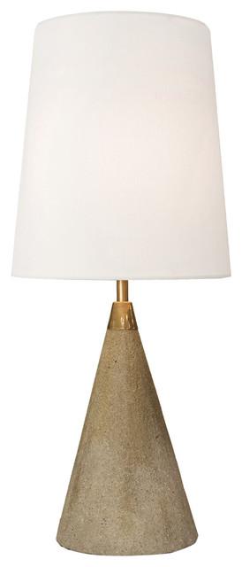 Zavier Industrial Modern Mini Concrete Orb Lamp.