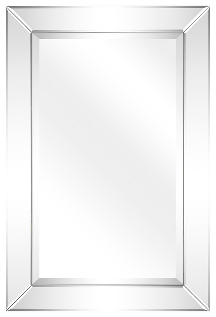 Antique Beveled Rectangle Wall Mirror