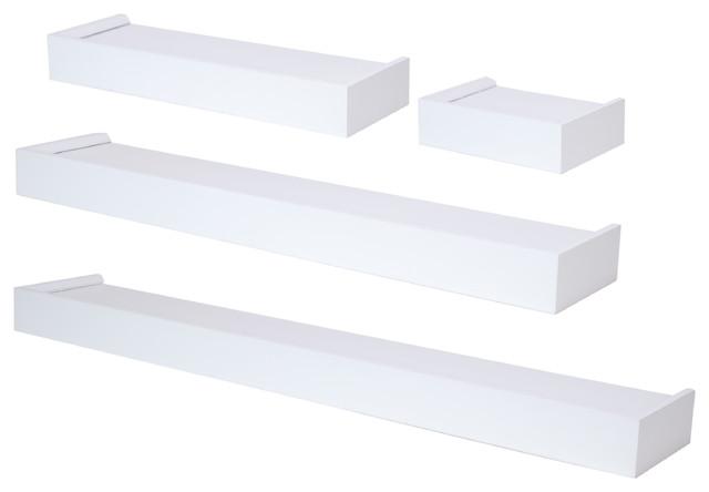 vertigo 4 piece ledge set 6 12 20 24 white. Black Bedroom Furniture Sets. Home Design Ideas