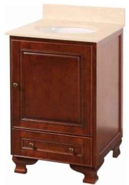 21 inch bathroom vanity sink foremost hartford 21 inch vanity combo in walnut finish 21778