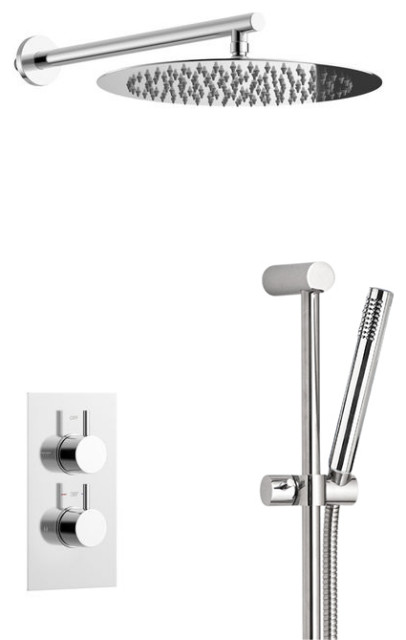 Trialo Shower Set With Built, Thermostatic Mixing Valve and Hand Held