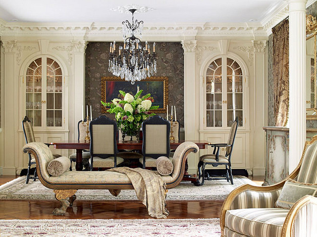 French Country Dining Room Traditional