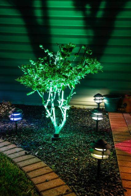 Led Landscape Lighting Color Changing Uplight And Tier