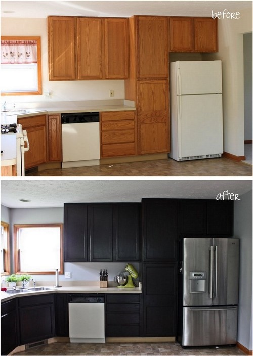 Gel stain kitchen cabinet makeover for Kitchen cabinets 75 off