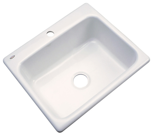 Madison 1-Hole Kitchen Sink, Biscuit.