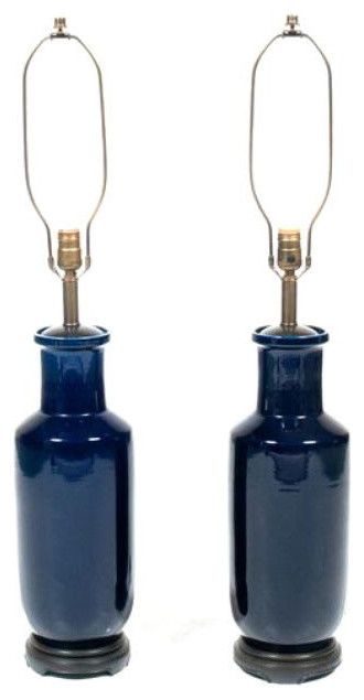 Sold Out Pair Of Navy Ginger Jar Lamps 600 Est Retail