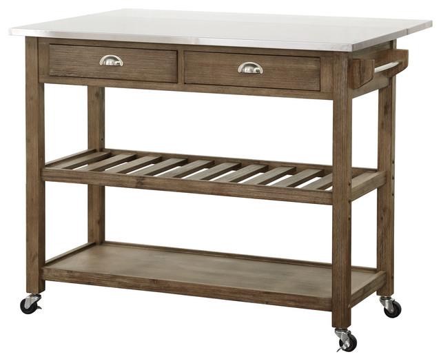 drop leaf stainless steel kitchen cart contemporary kitchen islands and kitchen: leaf kitchen cart