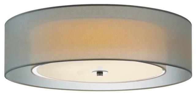"Sonneman Lighting 6014.13f Puri 22"" Flush Mount In Satin Nickel."