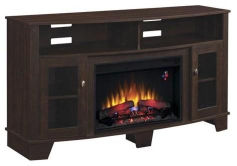 Bell O Media Mantel Fireplace Av Stand Transitional