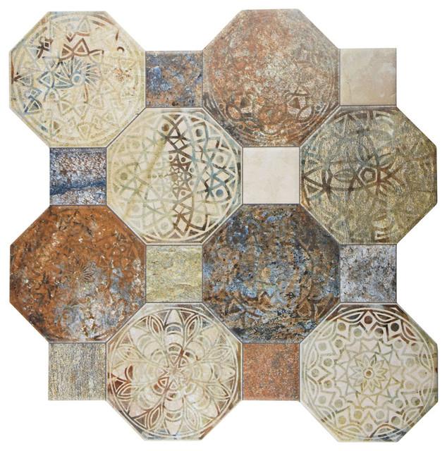 "Contemporary Wall Tile 17.75""x17.75"" imagina decor ceramic floor and wall tiles, set of"
