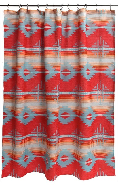 Red Branch Southwest Shower Curtain southwestern-shower-curtains - Red Branch Southwest Shower Curtain - Southwestern - Shower